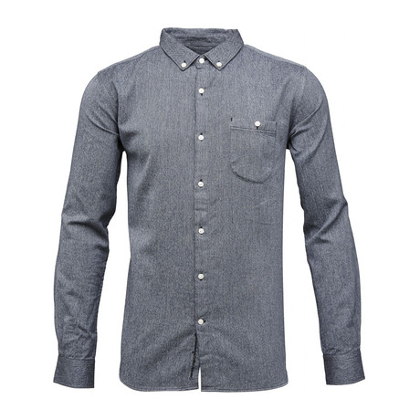 Melange Twill Shirt // Eclipse (S)