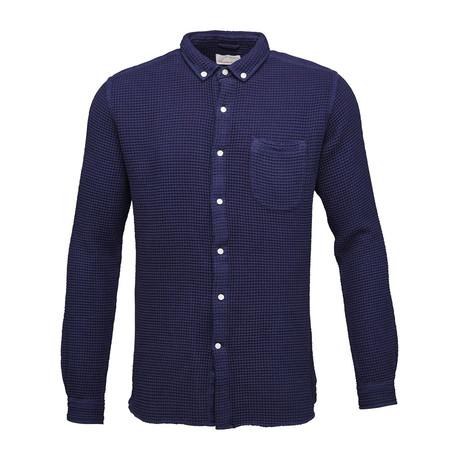 Waffel Weaved Shirt // Peacoat (S)