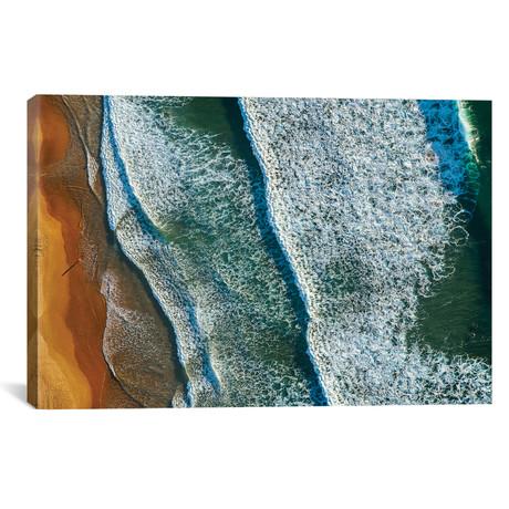 """Aerial, Curl Curl Beach, New South Wales, Australia // Ignacio Palacios (26""""W x 18""""H x 0.75""""D)"""