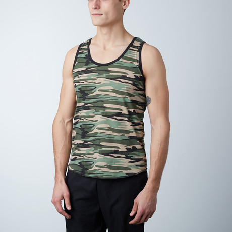 Ultra Soft Semi-Fitted Tank // Camo Green (S)