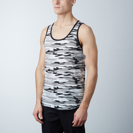 Ultra Soft Semi-Fitted Tank // Camo Gray (S)