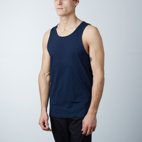 Ultra Soft Semi-Fitted Tank // Navy (S)