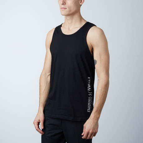 Ultra Soft Semi-Fitted Vertical Graphic Tank // Black + White Print (S)