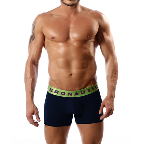 Aeronautica Cotton Trunk // Dark Blue + Green (S)
