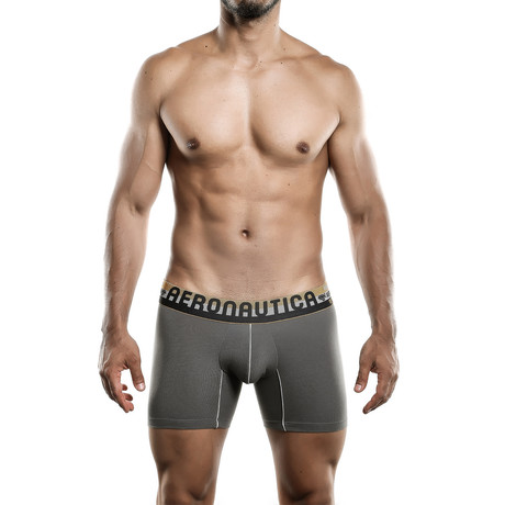 Aeronautica Cotton Boxer Medium // Dark Gray (S)