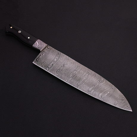Damascus Big Chef Knife // 9030