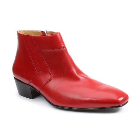 Blackjack Plain Toe Demi-Boot // Red (US: 7)