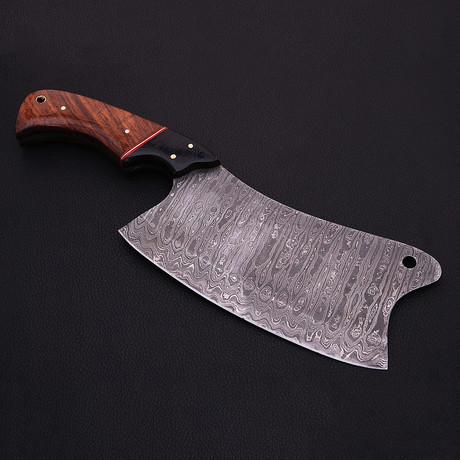 Damascus Cleaver Knife // 9048