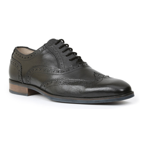 Rigby Stamped Leather Wing Tip // Black (US: 7)