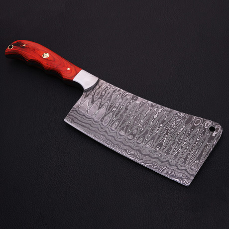 Damascus Cleaver Knife // 9050