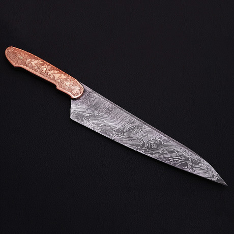 Damascus Kitchen Knife // 9052