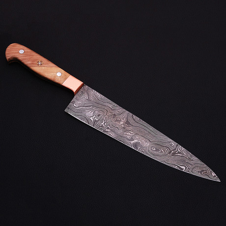 Damascus Kitchen Knife // 9055
