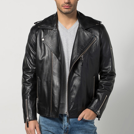 Welling Leather Jacket // Black (S)