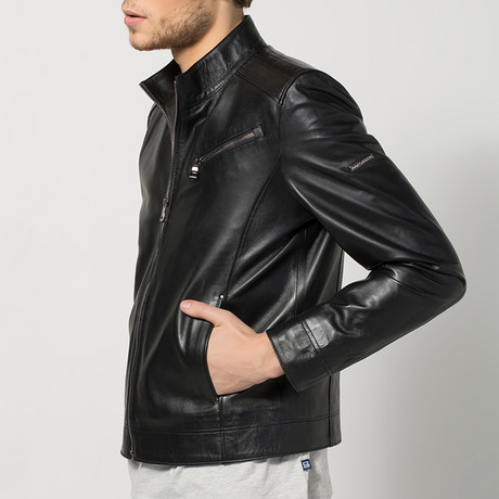 Laurent Leather Jacket // Black (S)