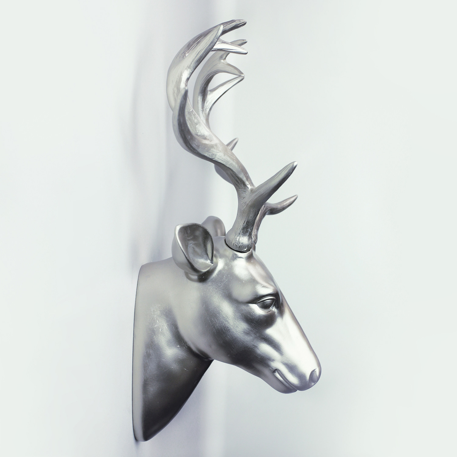 Premium deer head wall art gold walplus touch of modern premium deer head wall art gold amipublicfo Image collections