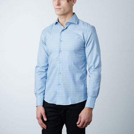 Check Dress Shirt // Sky Blue (US: 14R)