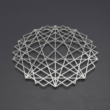 "Abstract Mandala 3D Metal Wall Art (24""W x 24""H x 0.25""D)"