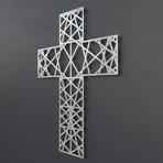 """Modern 3D Metal Wall Art (24""""W x 24""""H x 0.25""""D)"""