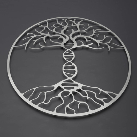 "DNA Tree of Life 3D Metal Wall Art (30""W x 30""H x 0.25""D)"