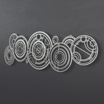 "Doctor Who Gallifreyan 3D Metal Wall Art (36""W x 19""H x 0.25""D)"