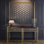 Uncoded Flower of Life 3D Metal Wall Art