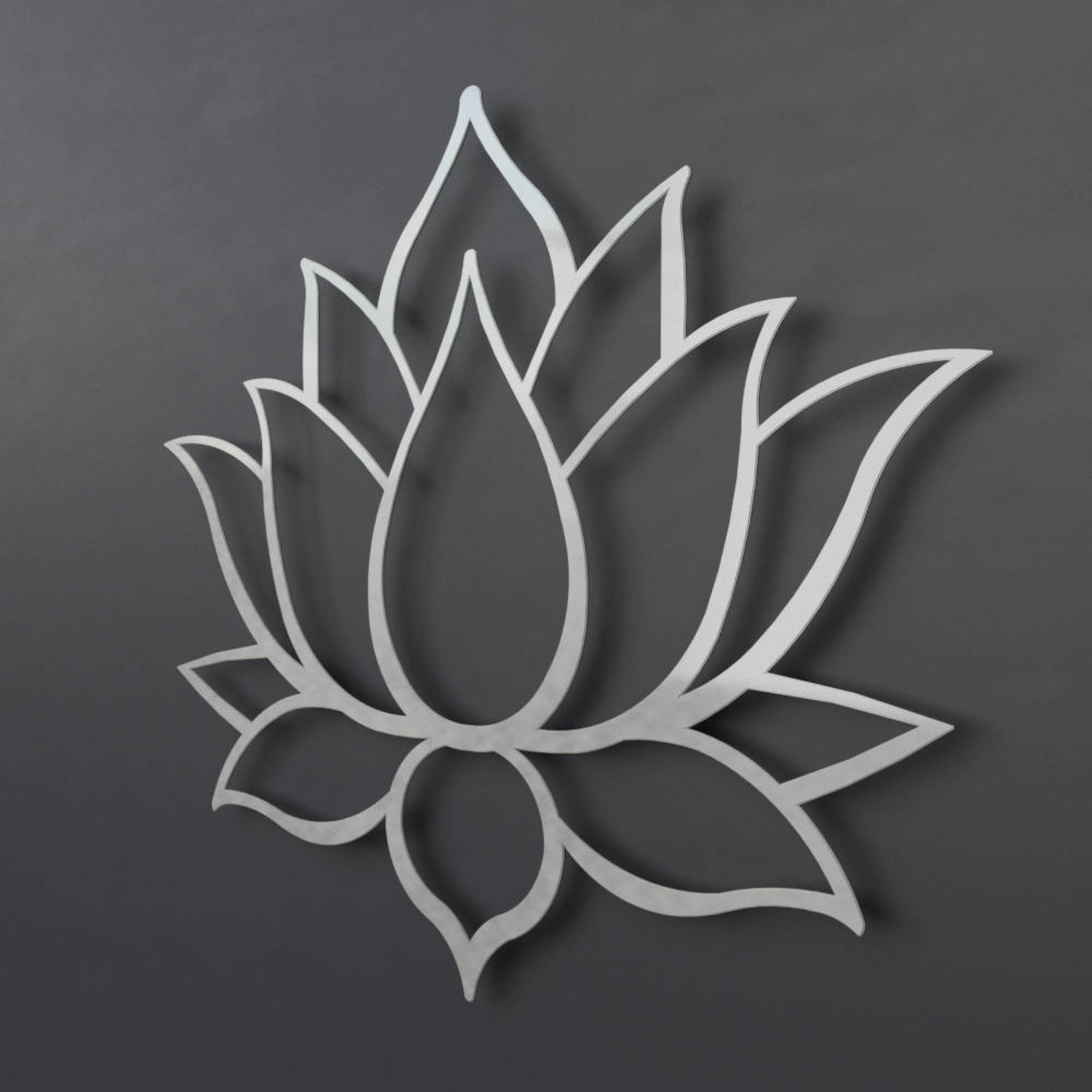 Lotus Flower 3d Metal Wall Art 24w X 205h X 025d Arte And