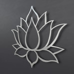 "Lotus Flower 3D Metal Wall Art (24""W x 20.5""H x 0.25""D)"