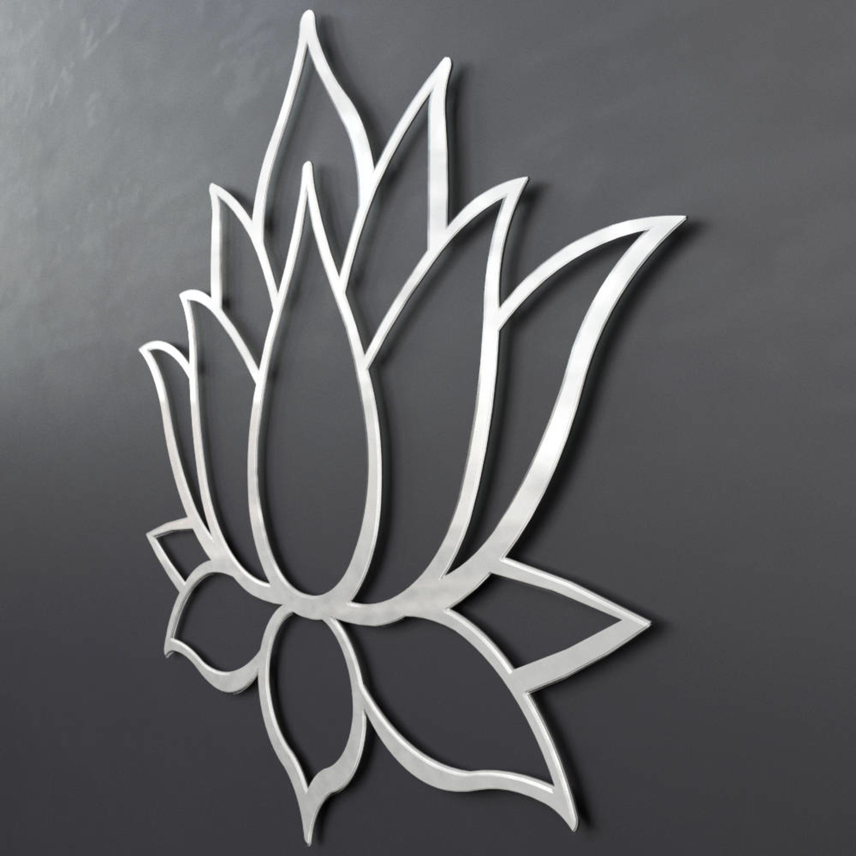 Lotus Flower 3d Metal Wall Art 24w X 205h X 025d Arte And