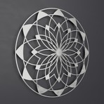 "Lotus Mandala 3D Metal Wall Art (24""W x 24""H x 0.25""D)"