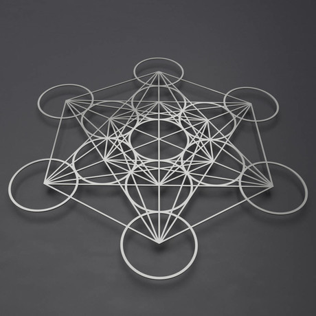 Metatron's Cube 3D Metal Wall Art (36W x 36H x 0.25D)