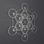"""Metatron's Cube 3D Metal Wall Art (36""""W x 36""""H x 0.25""""D)"""