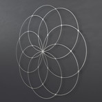 "Seed of Life 3D Metal Wall Art (36""W x 36""H x 0.25""D)"