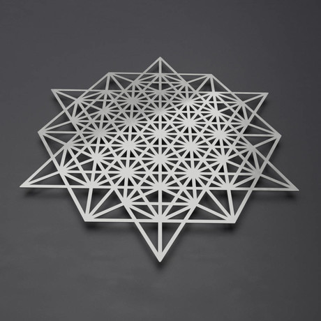 "64 Sided Tetrahedron 3D Metal Wall Art (24""W x 24""H x 0.25""D)"
