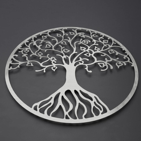"Tree of Life 3D Metal Wall Art (24""W x 24""H x 0.25""D)"