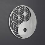 """Yin Yang 3D Metal Wall Art (24""""W x 24""""H x 0.25""""D)"""