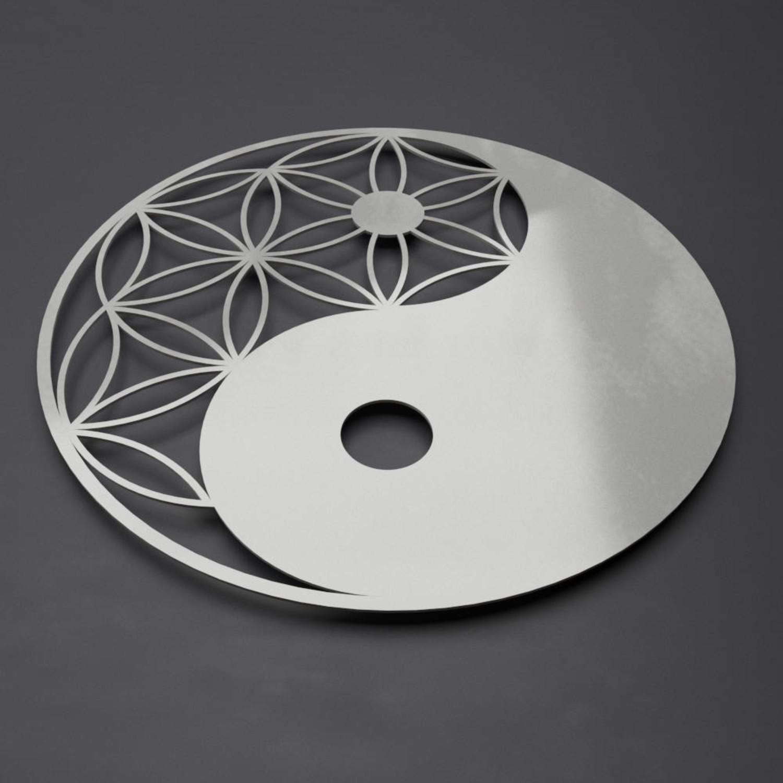 Yin Yang 3D Metal Wall Art (24W X 24H
