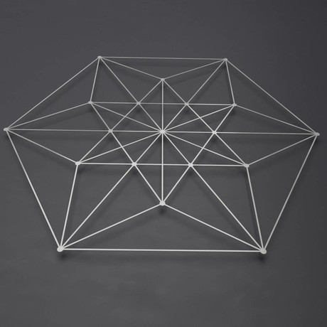 "Vector Equilibrium 3D Metal Wall Art (30""W x 30""H x 0.25""D)"