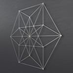 "Vector Equilibrium 3D Metal Wall Art (30""W x 30""H x 0.25""D)"