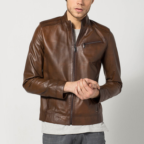 Lannis Leather Jacket // Brown (S)