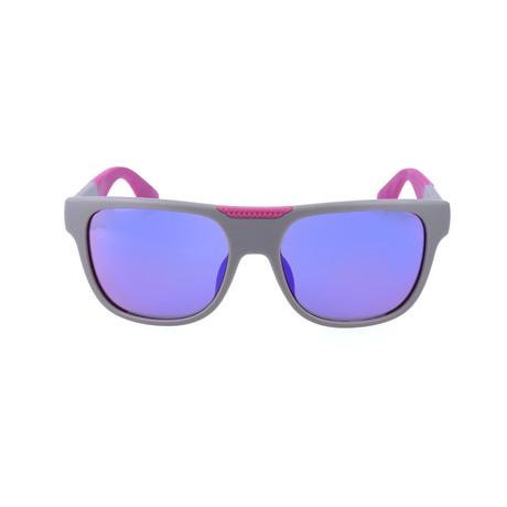 Lucas Sunglass // Grey + Pink