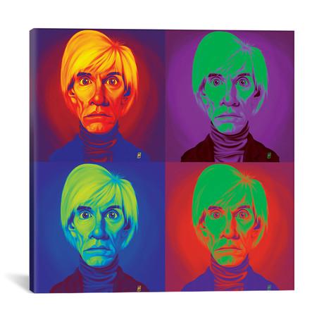 "Andy Warhol On Andy Warhol (18""W x 18""H x 0.75""D)"