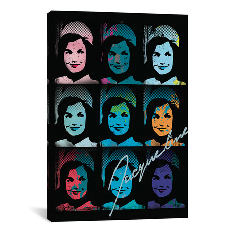 "Jacqueline Kennedy Onassis Pop Art Collage (26""W x 18""H x 0.75""D)"