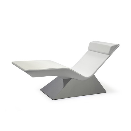 Move Massage Lounge // Polished Stainless Steel Base (ELMOsoft // White)