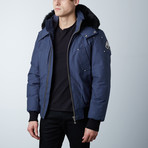 Ballistic Bomber // Steel Blue + Black Fur (XS)