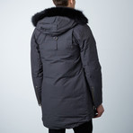 Stirling Parka // Grey + Black Fur (XS)