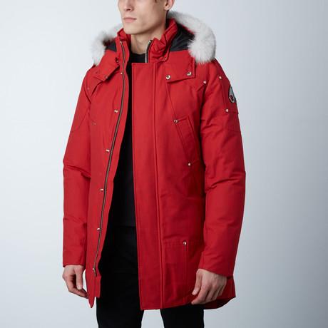 Stirling Parka // Red + White Fur