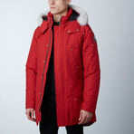Stirling Parka // Red + White Fur (XS)