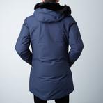 Stirling Parka // Steel Blue + Black Fur (XS)