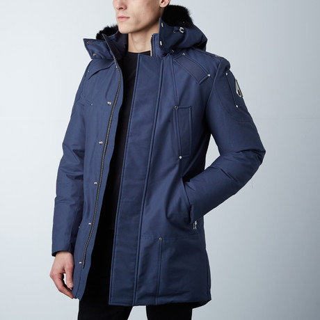 Stirling Parka // Steel Blue + Black Fur (XS)