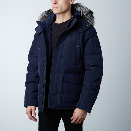 Algonquin Jacket // Midnight Navy + Black Fur (XS)